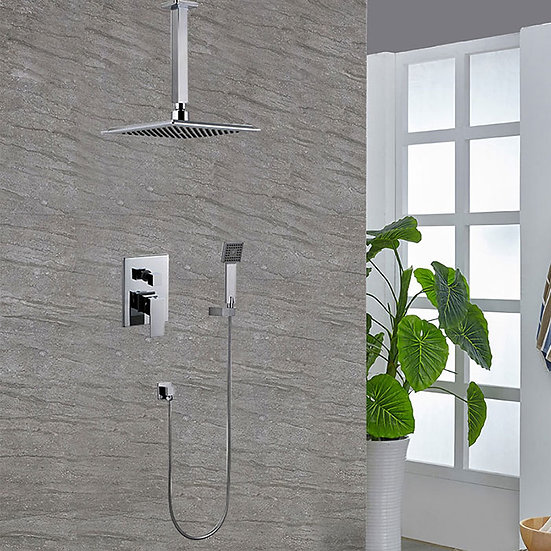 Bathroom Single Handle Tub and Shower Faucet - Brass with Chrome Finish