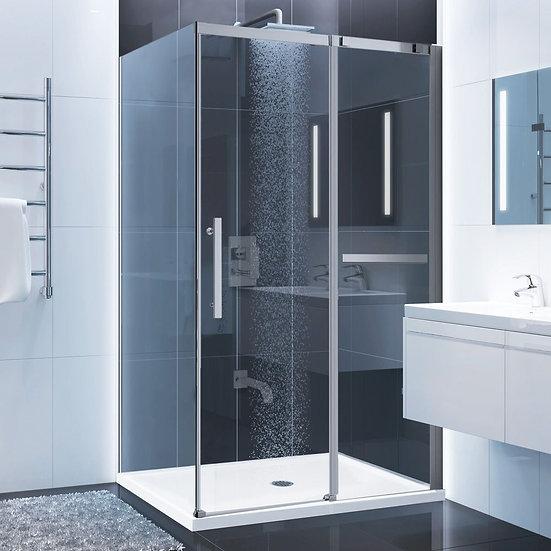 "48"" Sliding Shower Door With 36"" Side Panel"