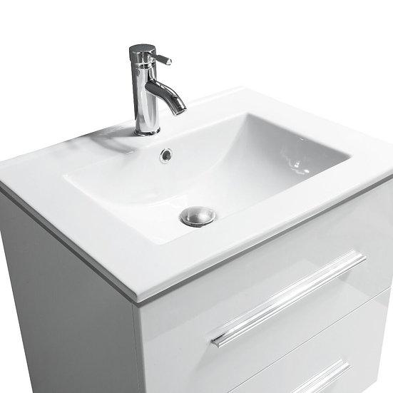 "24"" Jacob- White - Single Sink Modular Wall-Hung Bathroom Vanity"