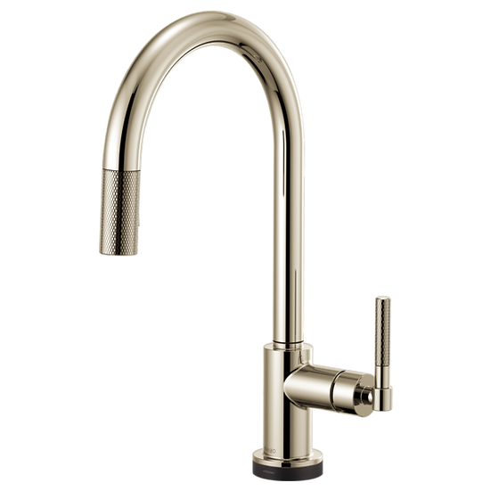 LITZE® SMARTTOUCH® PULL-DOWN FAUCET WITH ARC SPOUT AND KNURLED HANDLE