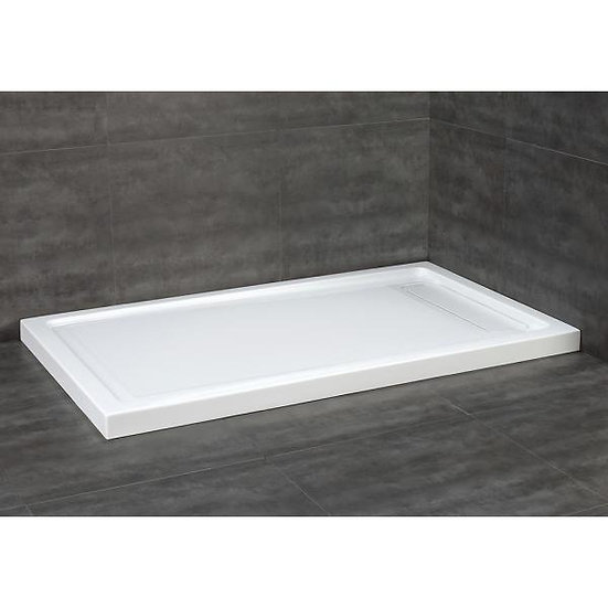 """60""""L x 36""""W - White - Alcove Shower Base with Reversible Drain"""