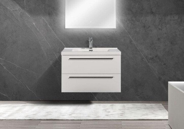 "30"" SOFIA - Lily White - Single Sink Wall-Hung Bathroom Vanity"