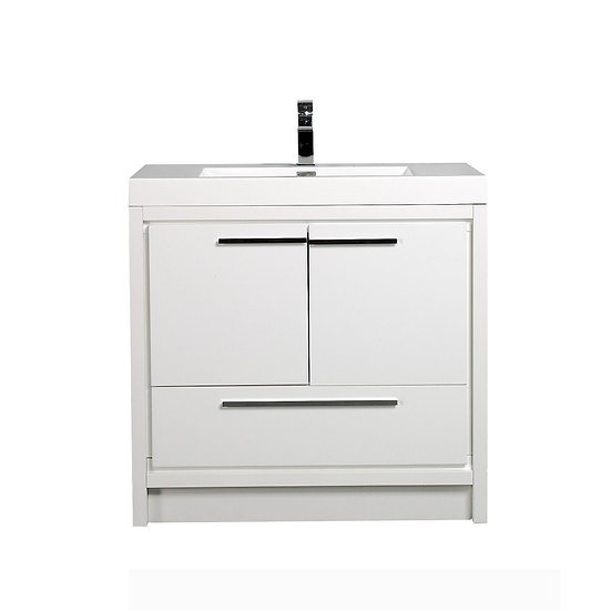 "36"" ALLIER - White - Single Sink Vanity"