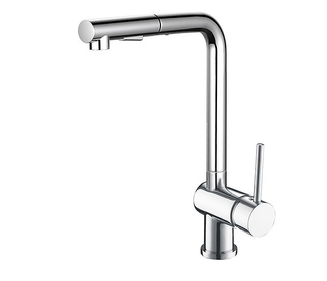Acqua + Bango, Solid Brass single handle Kitchen Faucet, Chrome