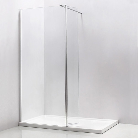 """Walk-In Shower With 36"""" Front Panel And 12"""" Swivel Panel"""