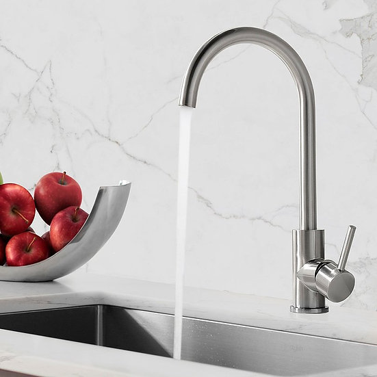 STYLISH Single Handle Bar/Prep Faucet - Stainless Steel Finish