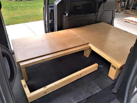 GoneCamper 60/40 Split Bed for Minivan Campers