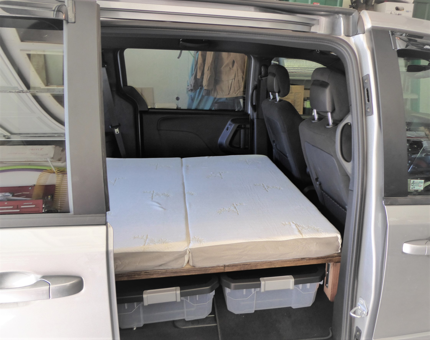 The GoneCamper Retractable Bed for Minivan Camping