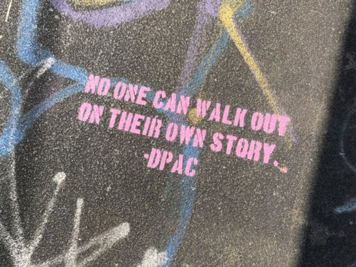 """""""Can you walk out on your own  story?"""""""