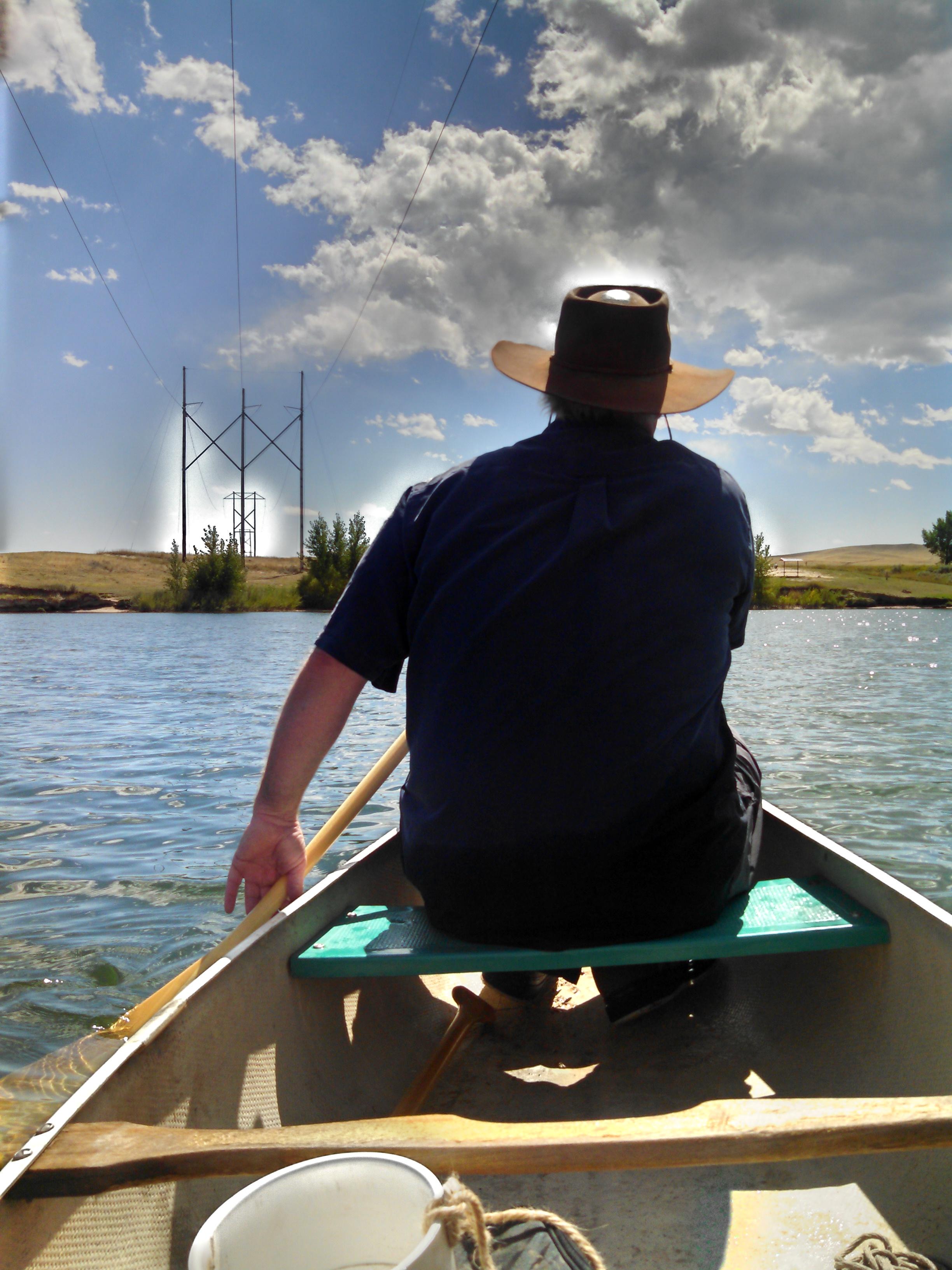 Canoeing on Lake DeSmet