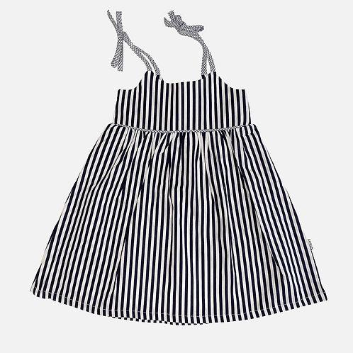 Eden Dress - Navy and White