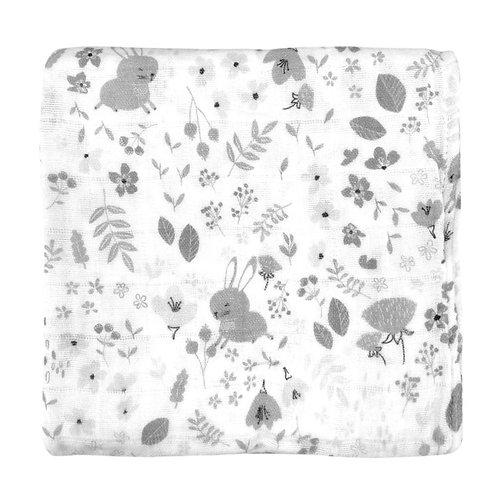 Muslin Wrap - Floral Bunny