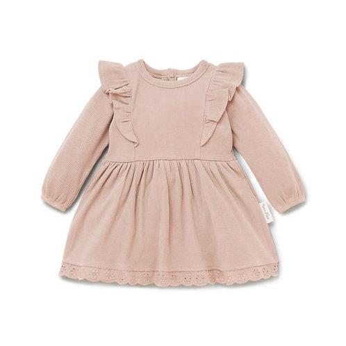 Cameo Rose Ruffle Dress