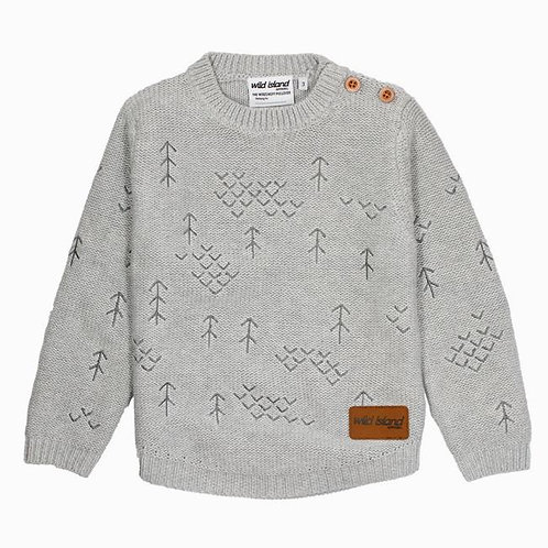 The Windswept Pullover - Grey