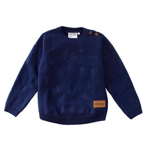 The Windswept Pullover - Navy