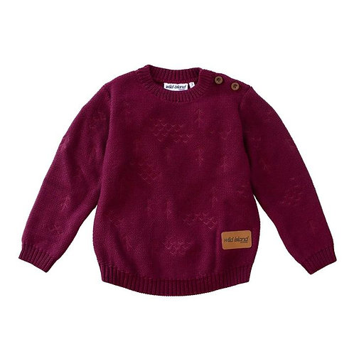 The Windswept Pullover - Burgundy