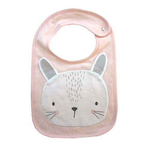 Animal Bib - Pink Bunny