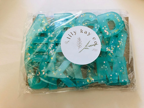ABC Resin Letters - Teal