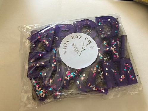 ABC Resin Letters - Purple