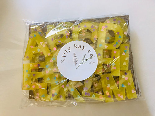ABC Resin Letters - Yellow