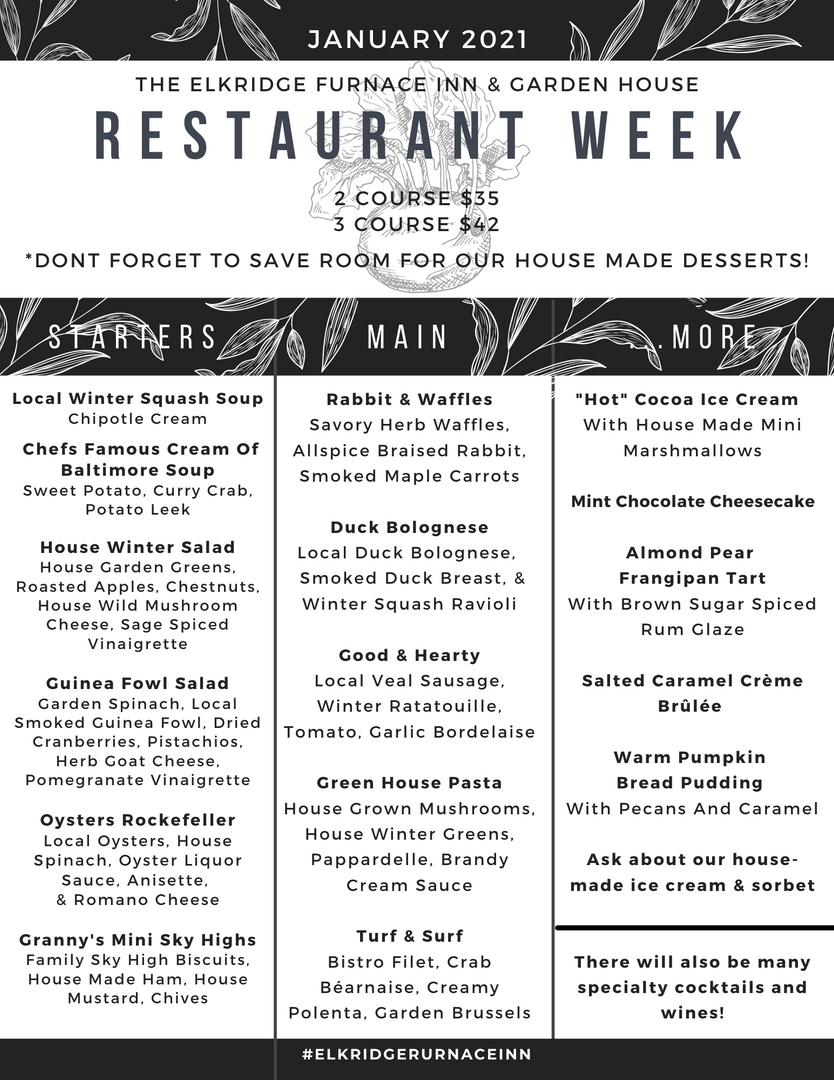 Restaurant Week Menu 2021