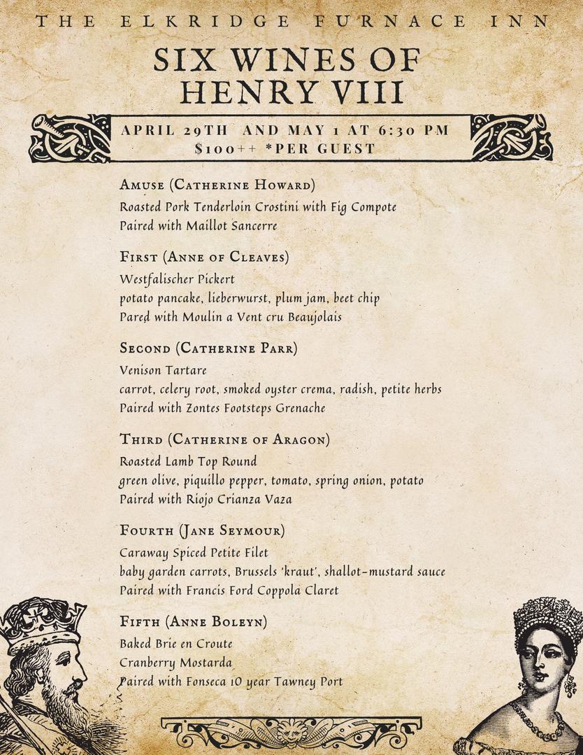 Six Wines of Henry VIII