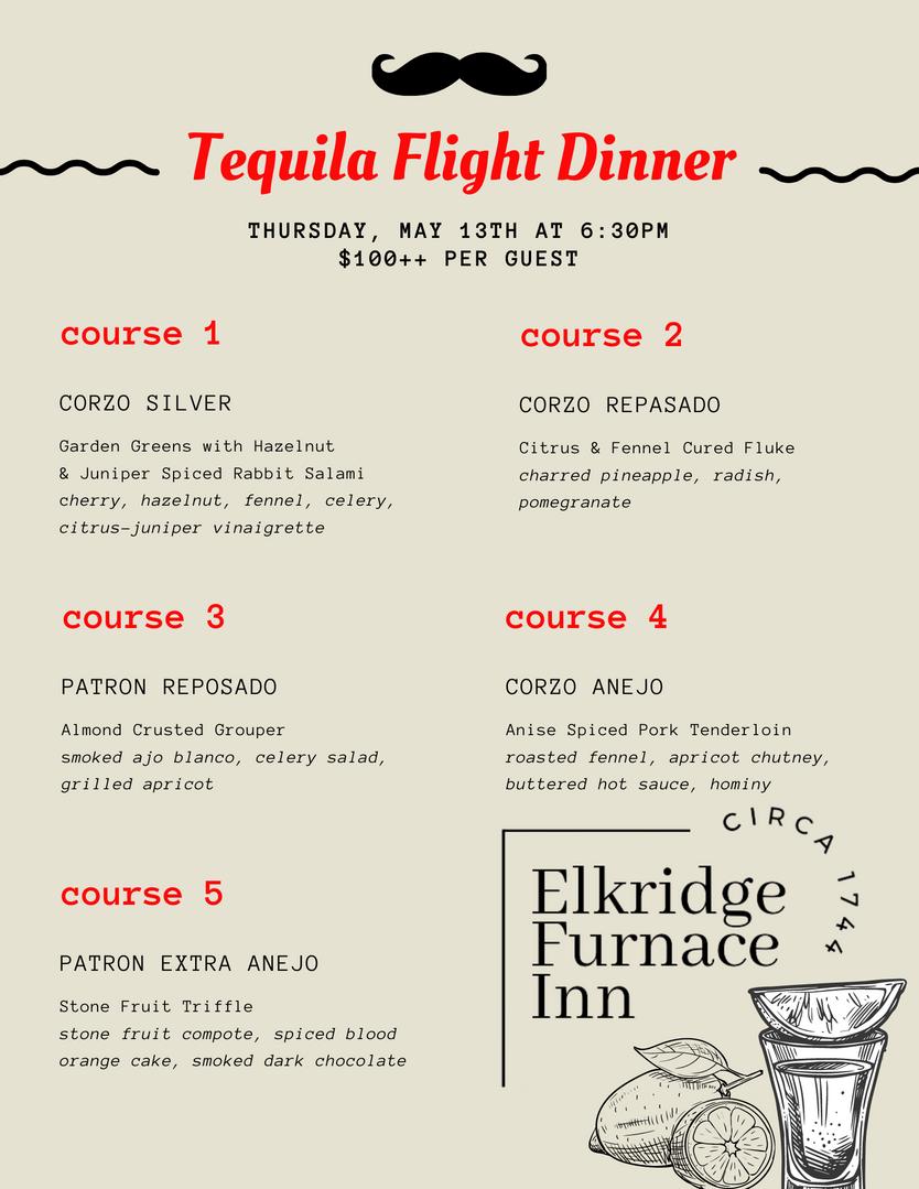 Tequilla Flight Dinner