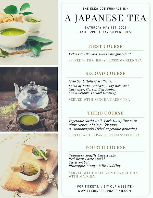 Japanese Tea Menu