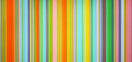 Last Week - Survey of Tim Bavington's Iconic Stripe Paintings Inspired By Rock Music and Talk With D