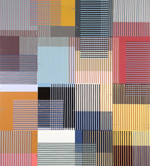 Geometric, Optical and Color-based Abstract Paintings by Peter D Stephens