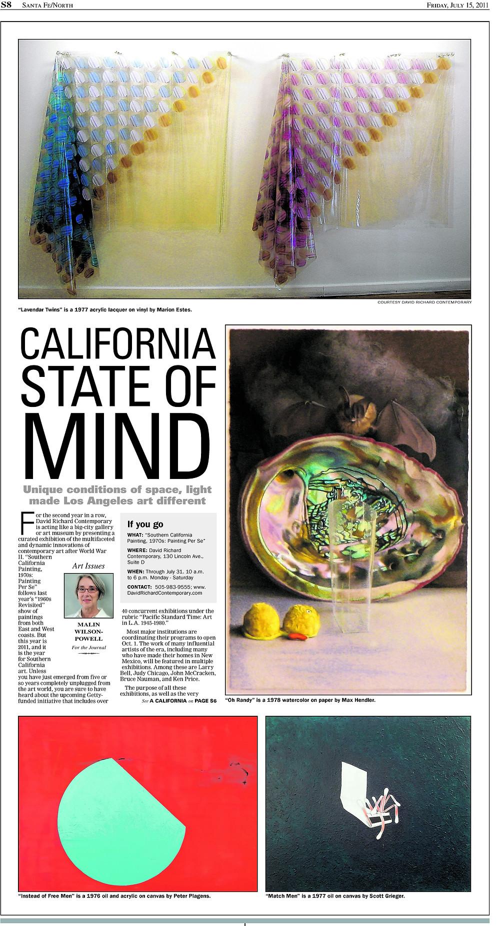 MaLin Wilson-Powell - Albuquerque Journal / Journal North, July 15, 2011