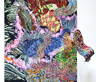 Nancy Graves: Abstract Paintings Incorporating Sculptural Elements at David Richard Gallery