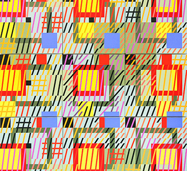 Bold Geometric Paintings from the 1980s by New York Artist Gloria Klein