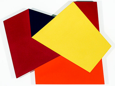 Shaped and Colored Canvases by Mokha Laget, Now Represented by David Richard Gallery