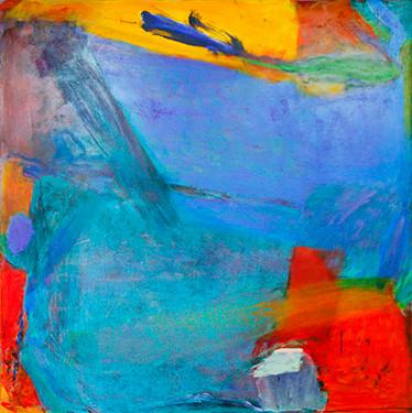 "Emily Mason, Mineral, 1989 Oil On Canvas, 52"" x 49.5"", Copyright ©Emily Mason"