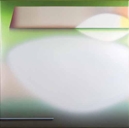 """Matthew Penkala, Flying Saucer Eye, 2010, Acrylic on canvas stretched panel, 48"""" x 48"""""""