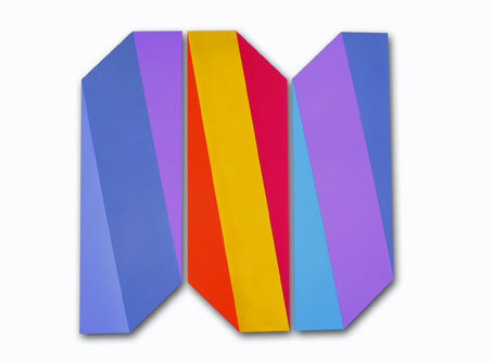 Color Field, Shaped Canvases by Mokha Laget in 2nd Solo Exhibition with David Richard Gallery