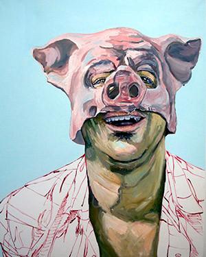 "Michael Dixon, The Antagonist, 2015, Oil on canvas, 48"" x 60"" x 1.5"", Copyright ©Michael Dixon"