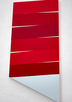 New Hard Edge Paintings On Shaped Canvases by Li Trincere