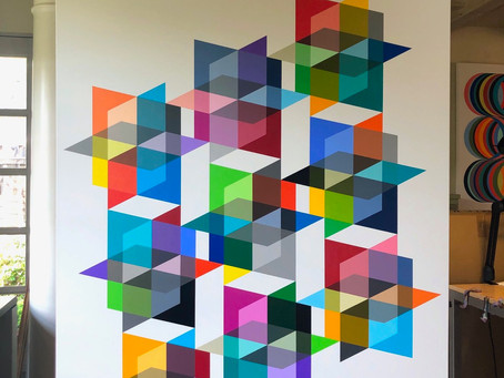 Colorful, Geometric and Hard Edge Paintings by Angela Johal