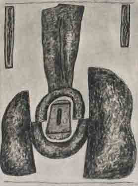 William Brice Untitled (10-23) Charcoal on paper 1978 24 x 18