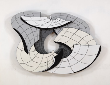 Optical and Illusory Space Created in New and Recent Wall Constructions by John F. Simon Jr.