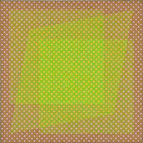 "Julian Stanczak, Tactile See-Through, 1974, Acrylic on canvas, 36"" x 36"""