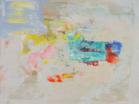 New Gestural Abstract Color Paintings on Linen by George Hofmann
