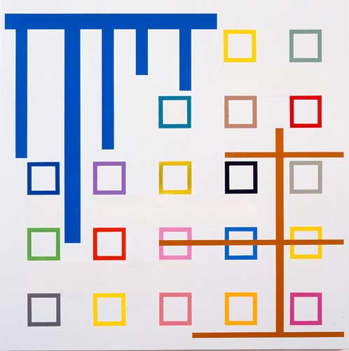 Roland Reiss Apertures - Viewpoints Acrylic and vinyl on vinyl 2000 44 x 44