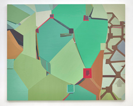 Mike Childs, A Journey of Grids, Color and Curvilinear Forms, Paintings from 2004 to 2020