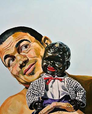 "Michael Dixon, The New Jim Crow, 2015, Oil on canvas, 48"" x 60"" x 1.5"", Copyright ©Michael Dixon"