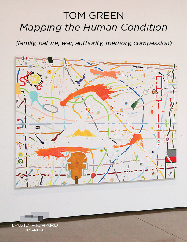 "Tom Green ""Mapping the Human Condition (family, nature, war, authority, memory, compassion)"""