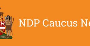 NDP Caucus Announces Critic Areas