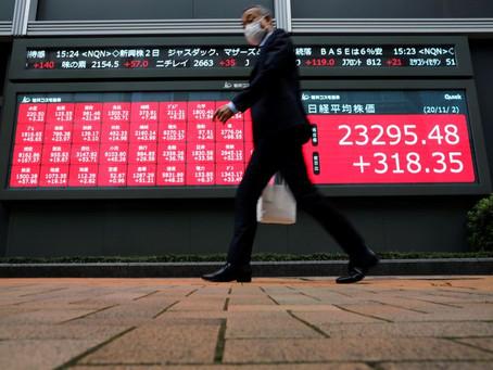 Stocks take a breather as Brexit, U.S. stimulus talks stall